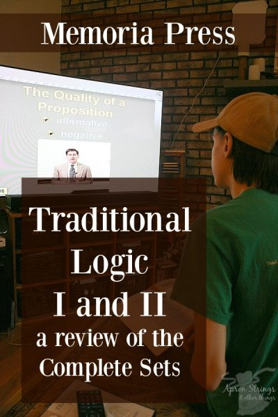 Memoria Press Traditional Logic I and II Complete Sets review at ApronStringsOtherThings.com