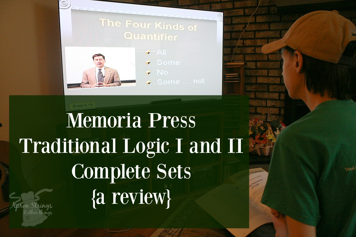 Memoria Press review Traditional Logic Complete Sets at ApronStringsOtherThings.com