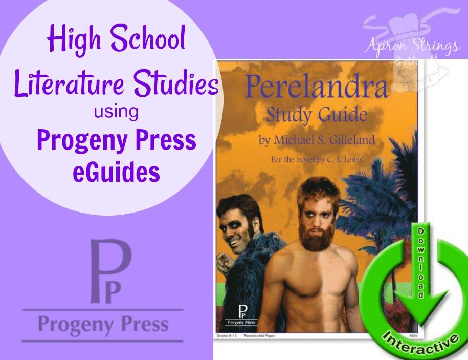 High School Lit Progeny Press eGuides Perelandra at ApronSTringsOtherThings.com