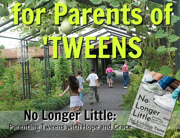 No Longer Little Parenting Tweens with Hope and Grace book review at ApronSTringsOtherThings.com