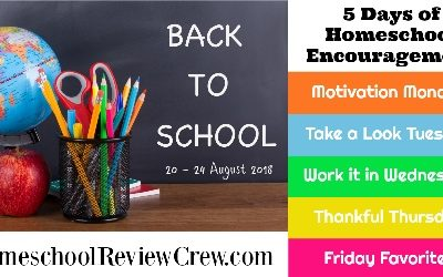 Back to School Encouragement for Your Homeschool {a 5-day series}