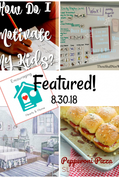 Encouraging Hearts & Home Blog Hop 8.30.18 Featured at ApronStringsOtherThings.com