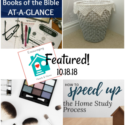 Encouraging Hearts & Home Blog Hop 10.18.18