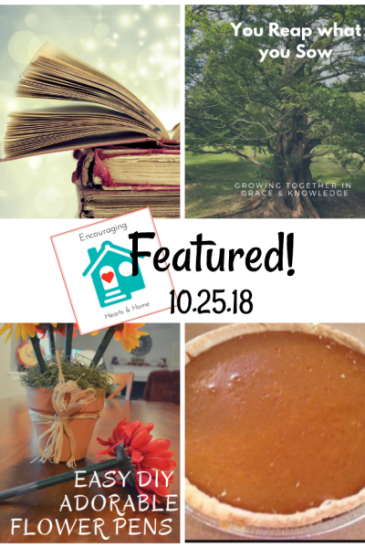 Encouraging Hearts & Home Blog Hop 10.25.18 Featured at ApronStringsOtherThings.com
