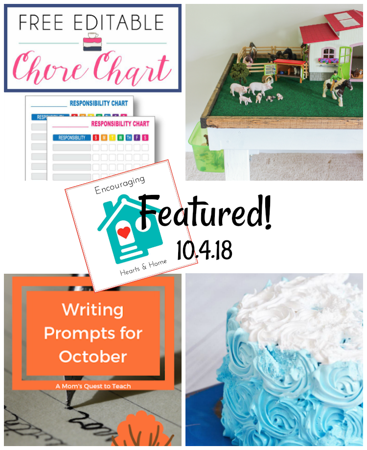 Encouraging Hearts & Home Blog Hop 10.4.18 Featured at ApronStringsOtherThings.com