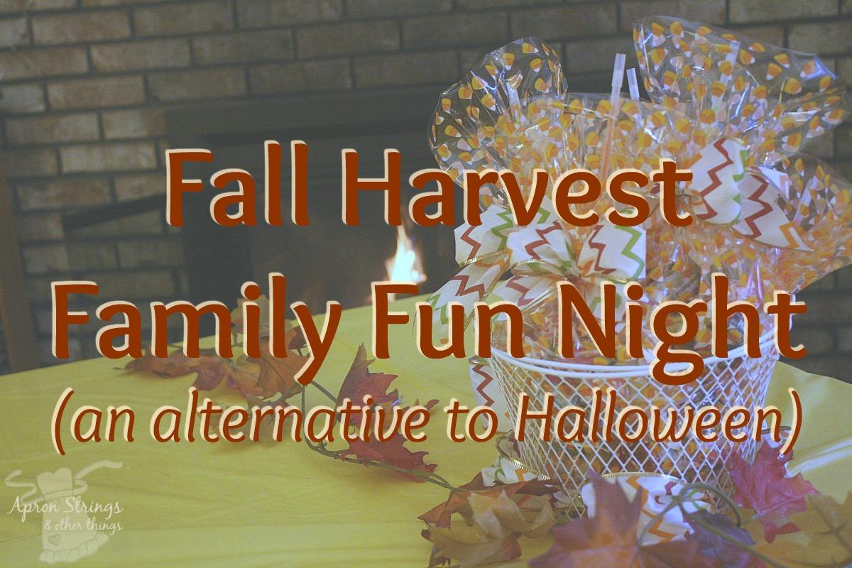 Fall Harvest Family Fun Night (an alternative to Halloween) at ApronStringsOtherThings.com #dollartreeholiday