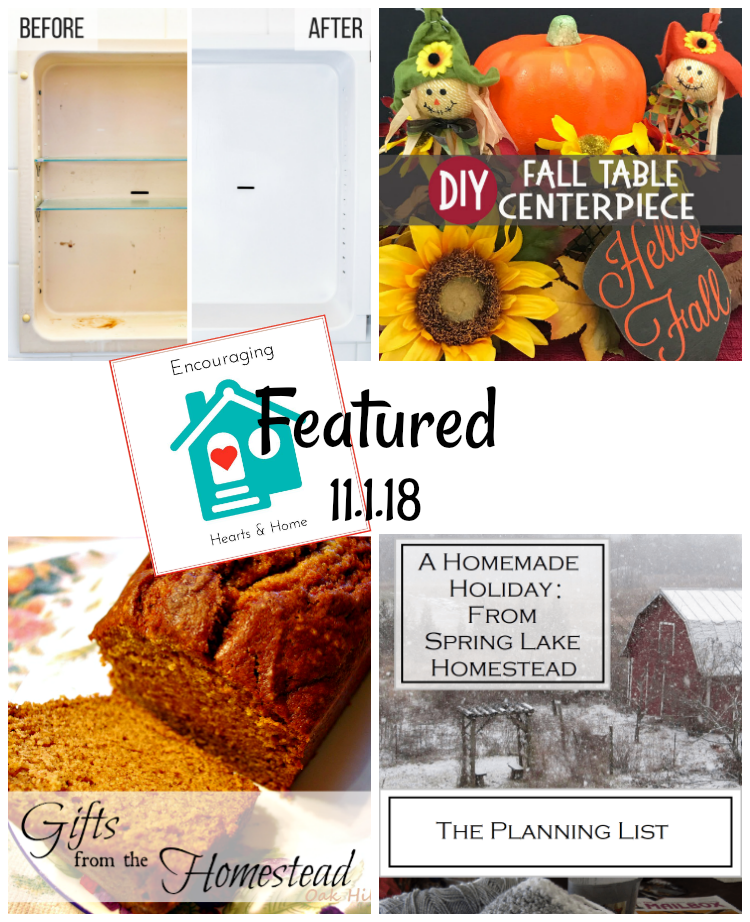 Encouraging Hearts & Home 11.1.18 Featured at ApronStringsOtherThings.com
