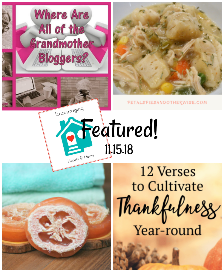 Encouraging Hearts & Home Blog Hop 11.15.18 Featured at ApronStringsOtherThings.com