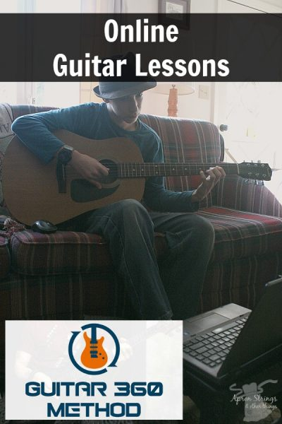 Online Guitar Lessons with videos Guitar 360 Method at ApronStringsOtherThings.com