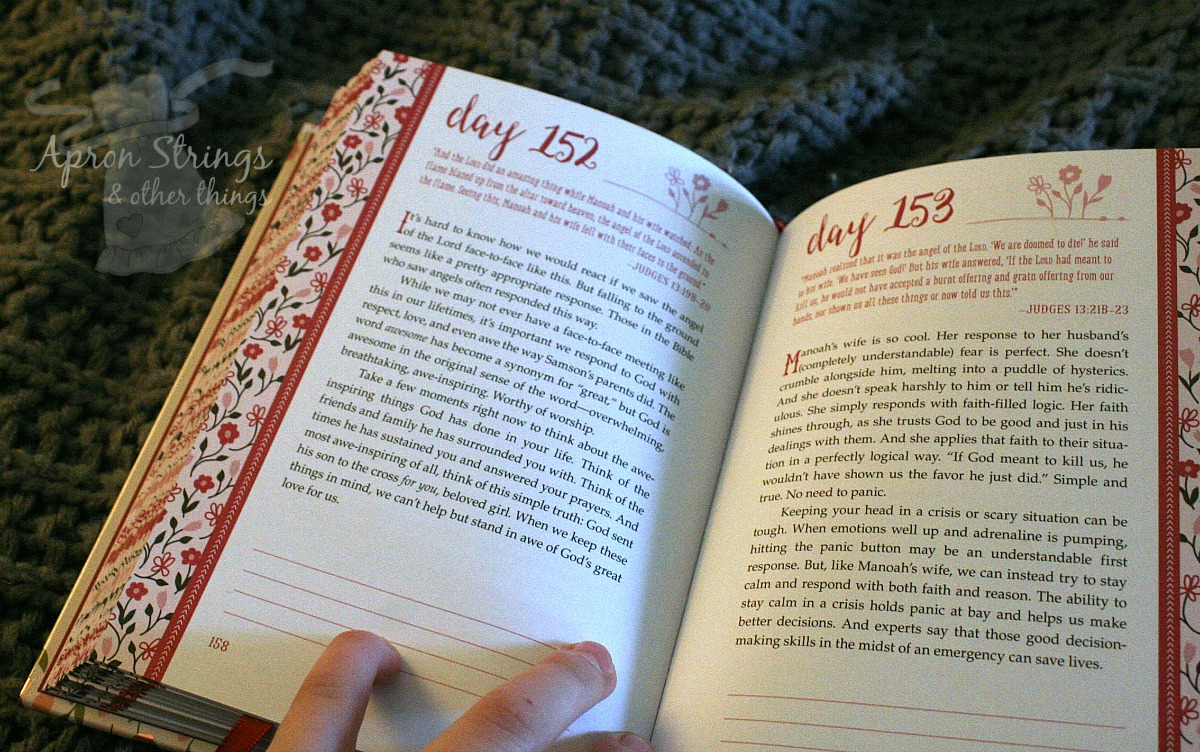 beloved 365 devotions for young girls sample page at ApronStringsOtherThings.com
