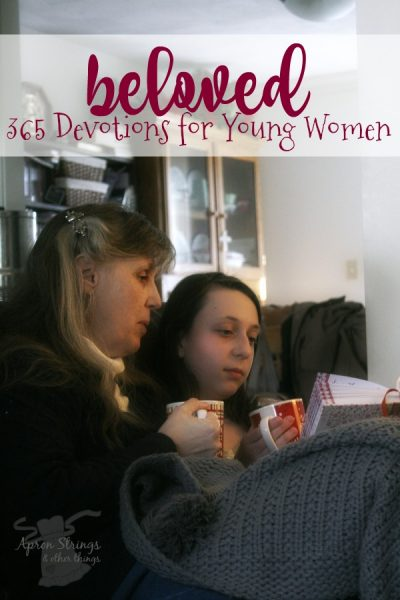 beloved 365 devotions for young women book review zondervan at ApronStringsOtherThings.com