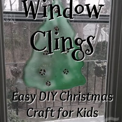 Homemade Window Clings: Easy DIY Christmas Craft for Kids