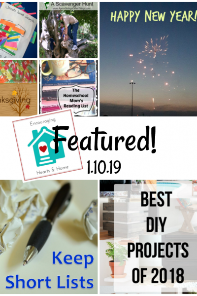 Encouraging Hearts & Home Blog Hop Featured 1.10.19 at ApronStringsOtherThings.com