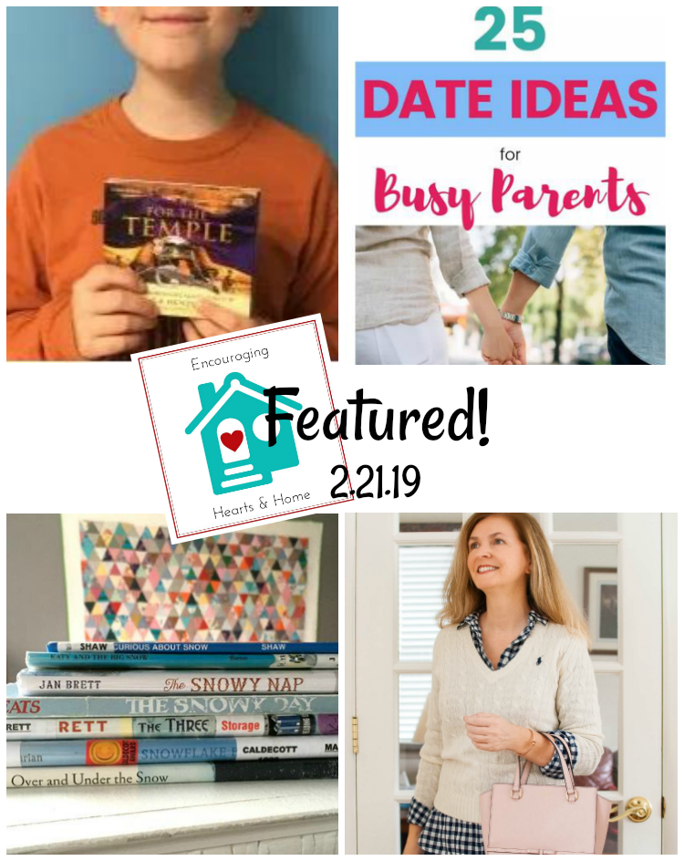 Encouraging Hearts & Home Blog Hop Featured 2.21.19 at ApronStringsOtherThings.com