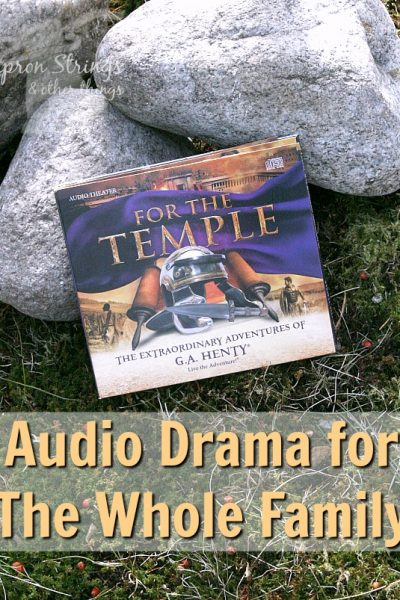 For The Temple Heirloom Audio Productions at ApronStringsOtherThings.com a review