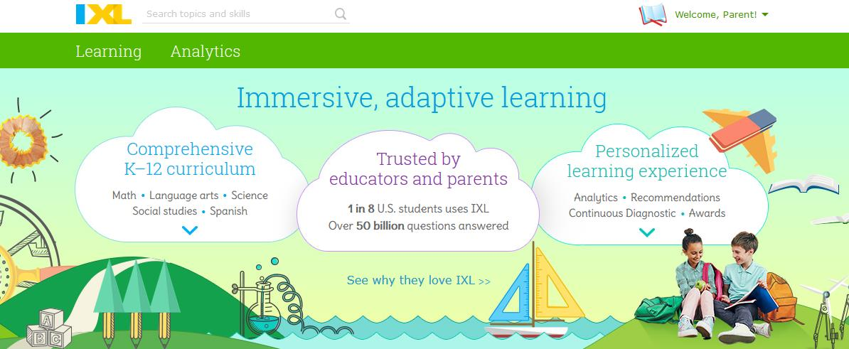 IXL Learning Inc Online Adaptive Education at ApronStringsOtherthings.com