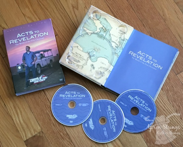 Acts to Revelation Drive Thru History 3 DVD Set with Study Guide at ApronSTringsOtherThings.com
