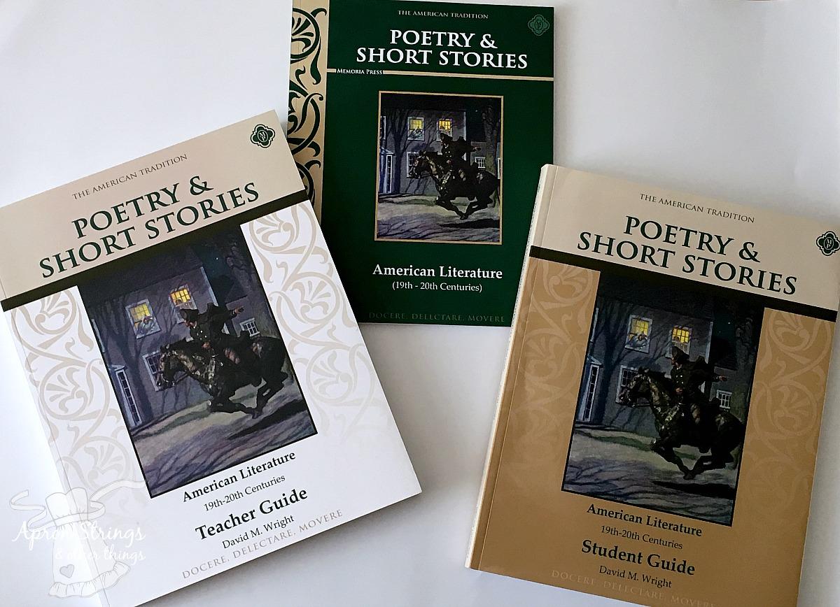 Memoria Press American Lit Poetry Short Stories at ApronStringsOtherThings.com