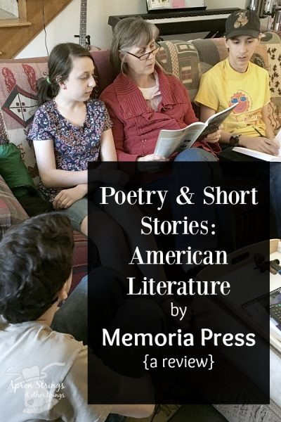 Poetry & Short Stories_ American Literature by Memoria Press {a review} high school english at ApronStringsOtherThings.com