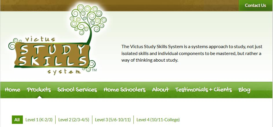 screenshot victus study skills at ApronStringsOtherthings.com