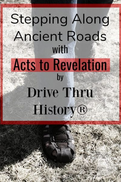 Stepping Along Ancient Roads with Acts to Revelation by Drive Thru History dvd series visit holy lands at ApronStringsOtherThings.com