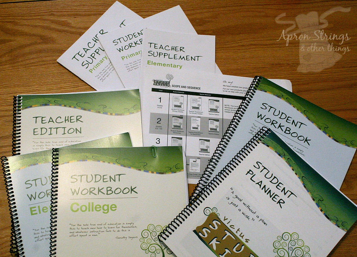 Victus Study Skills workbooks student planner at ApronStringsOtherThings.com
