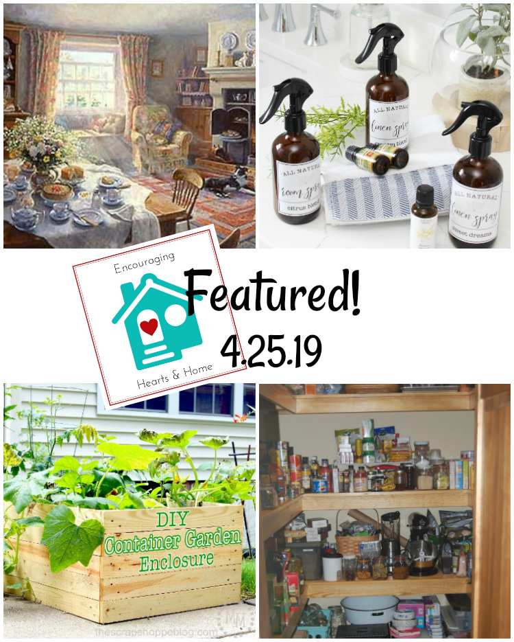 Encouraging Hearts & Home Blog Hop Featured 4.25.19 at ApronStringsOtherThings.com