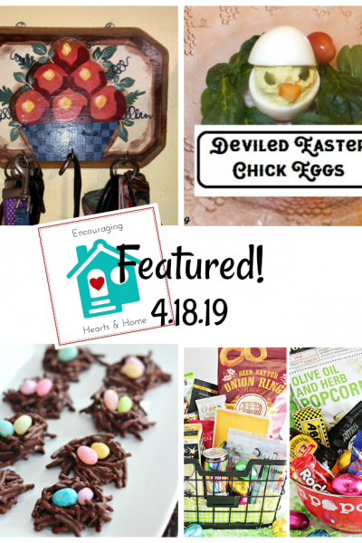 Encouraging Hearts & Home blog hop featured 4.18.19 at ApronStringsOtherThings.com