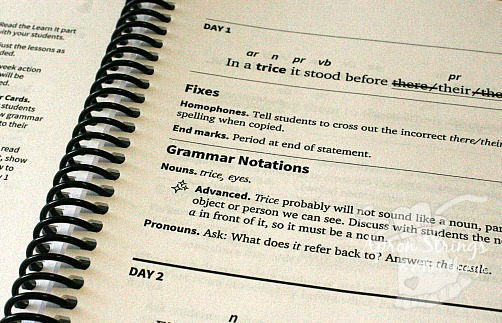 IEW Fit It! Grammar teacher guide advanced notations at ApronStringsOtherThings.com