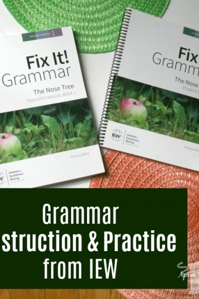 IEW Fix It! Grammar The Nose Tree Book One at ApronStringsOtherThings.com