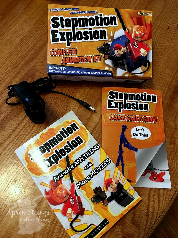 Stopmotion Explosion Complete Animation Kit Animate Anything and Make Movies at ApronStringsOtherThings.com
