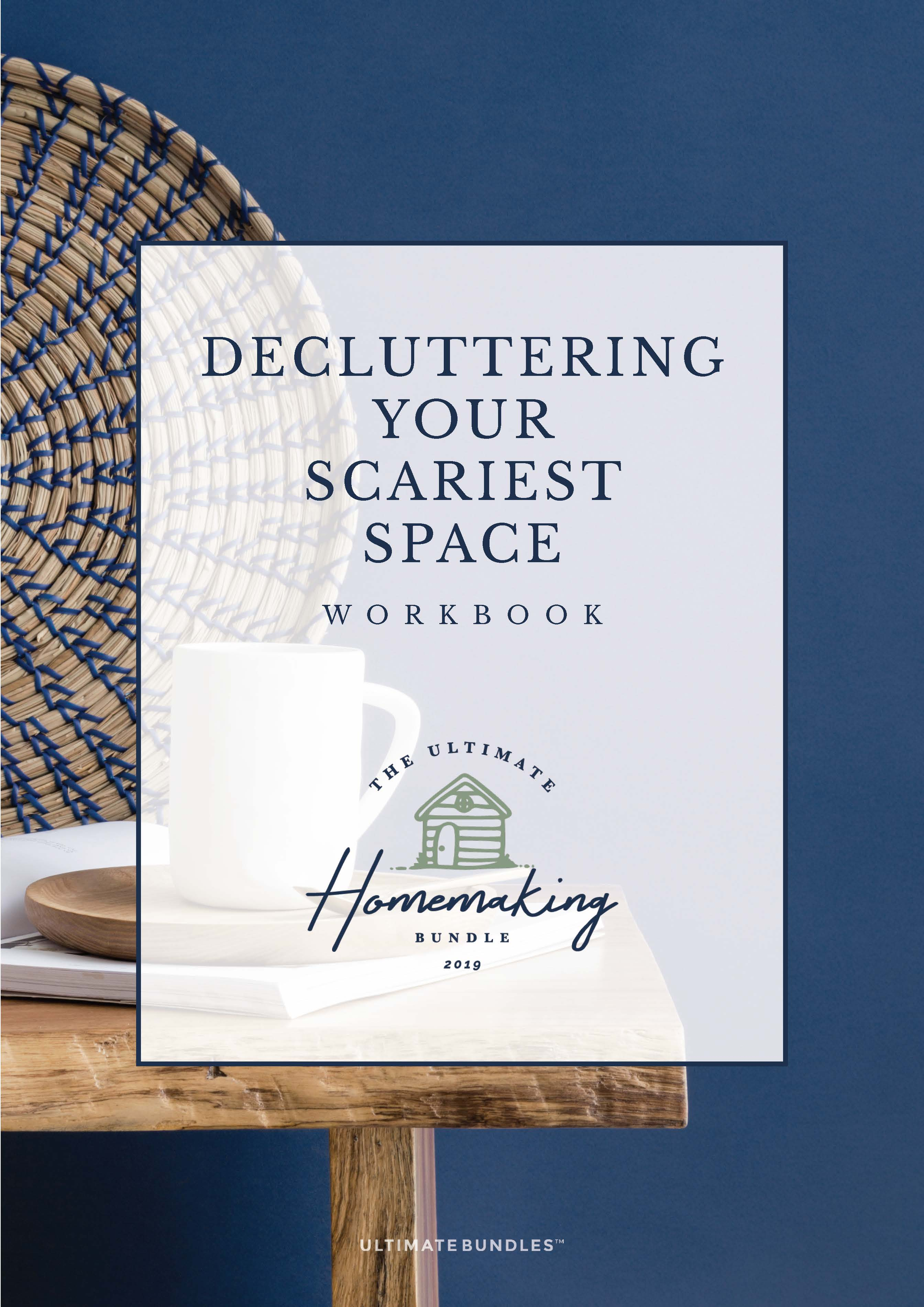 Declutter Challenge Workbook Cover UHMOB 2019 at ApronStringsOtherthings.com