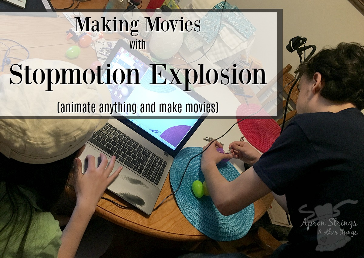 stopmotion animation make movies at ApronStringsOtherThings.com