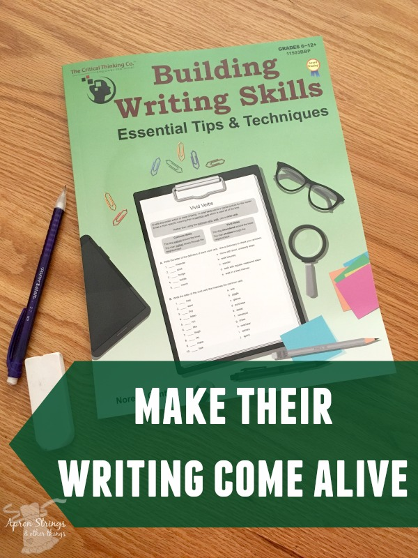 Building Writing Skills with The Critical Thinking Co at ApronStringsOtherThings.com