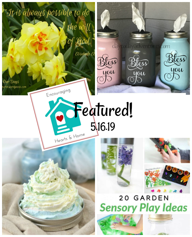 Encouraging Hearts & Home Blog Hop 5.16.19 Featured at ApronStringsOtherThings.com