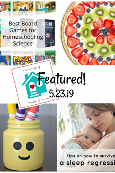 Encouraging Hearts & Home blog hop featured 5.23.19 at ApronStringsOtherthings.com
