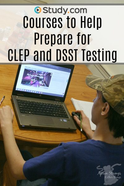 Study.com Courses to Help Prepare for CLEP and DSST Testing at ApronStringsOtherThings.com