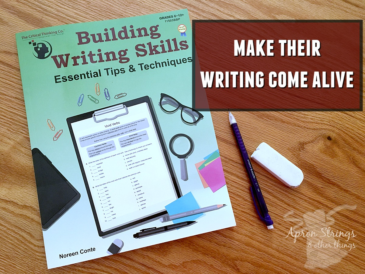 make their writing come alive The Critical Thinking Co at ApronStringsOtherThings.com