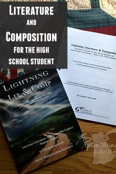 Hewitt Homeschooling Resources Literature and Composition for the high school student at ApronSTringsOtherThings.com pin