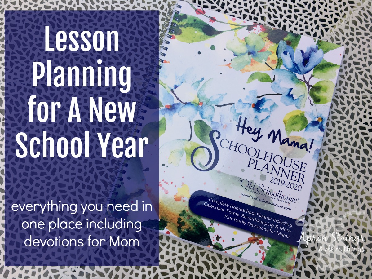 hey mama schoolhouse planner review at ApronStringsOtherThings.com
