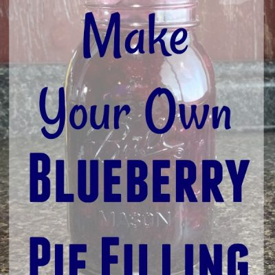 Make Your Own Blueberry Pie Filling