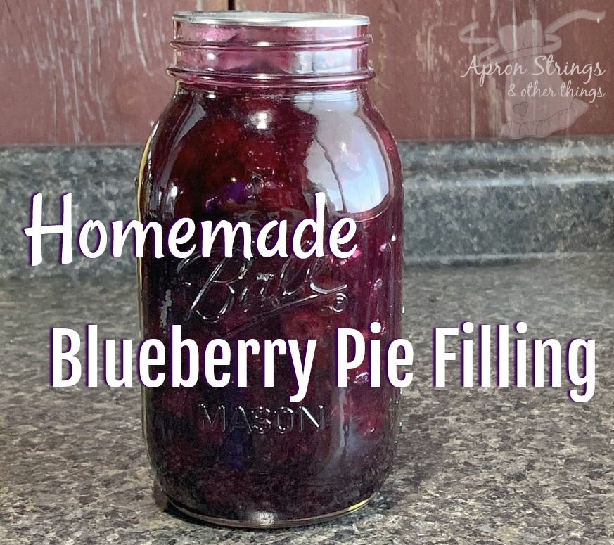 make your own homemade blueberry pie filling recipe at ApronStringsOtherThings.com