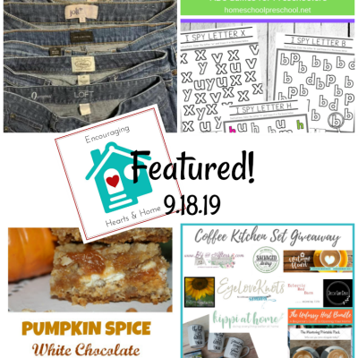 Encouraging Hearts & Home Blog Hop 9.19.19