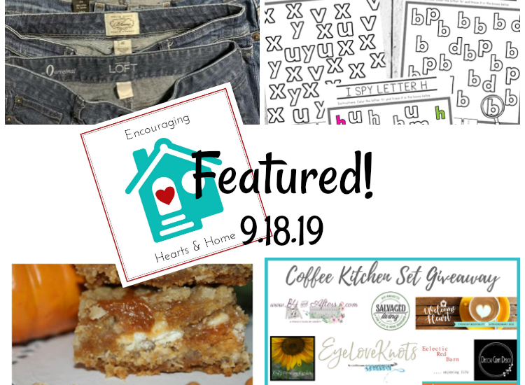 Encouraging hearts & home featured 9.19.19 at ApronStringsOtherThings.com