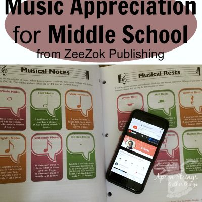 Music Appreciation for Middle School from Zeezok Publishing {A Review}