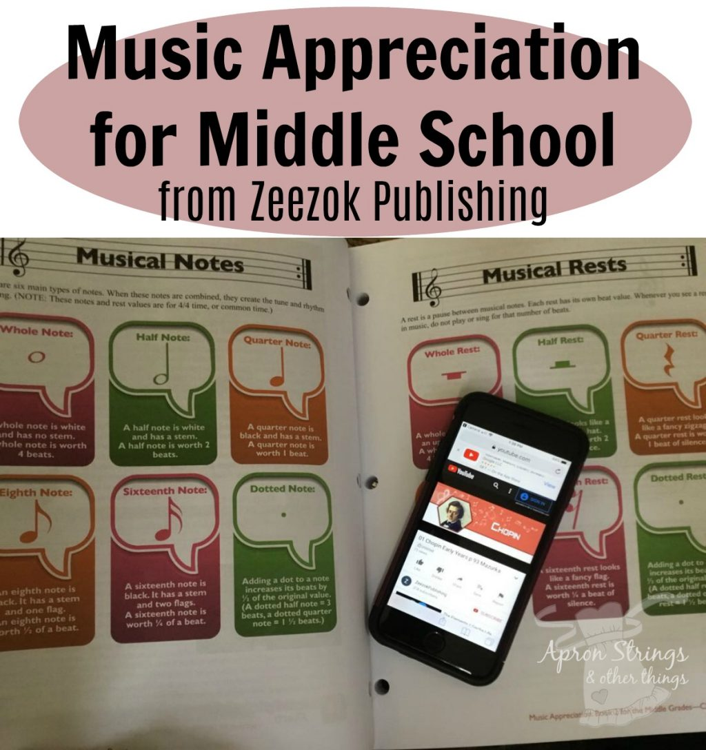 Music Appreciation for Middle School from Zeezok Publishing at ApronStringsOtherThings.com