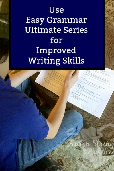 Use Easy Grammar Ultimate Series for Improved Writing Skills at ApronStringsOtherThings.com pin