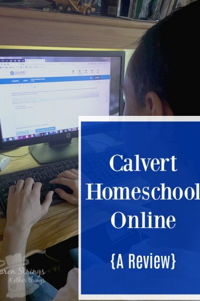 Calvert Homeschool Online Curriculum Review at ApronStringsOtherThings.com