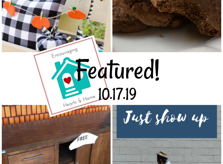 Encouraging Hearts & Home Blog Hop Featured 10.17.19 at ApronStringsOtherThings.com