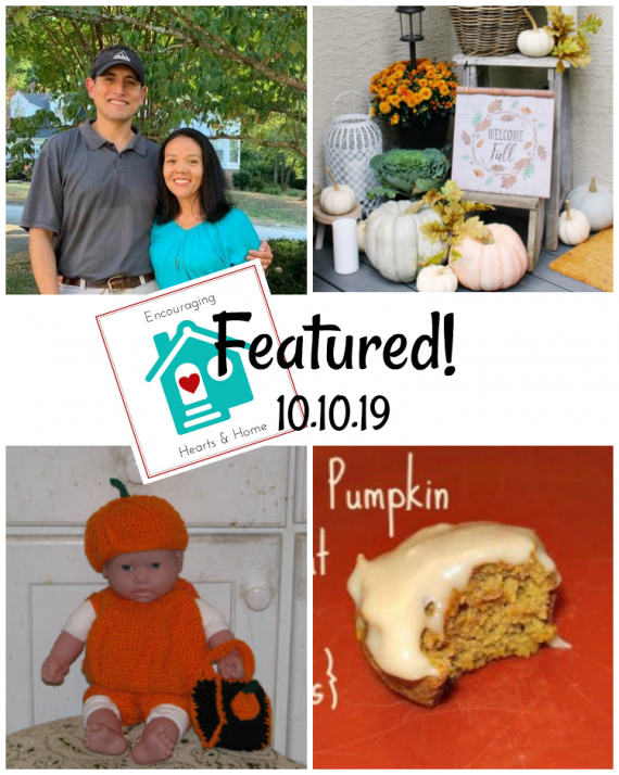 Encouraging Hearts & Home blog hop featured 10.10.19 at ApronStringsOtherThings.com